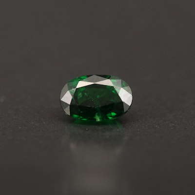 Loose 1.09 CT Oval Faceted Tsavorite Garnet