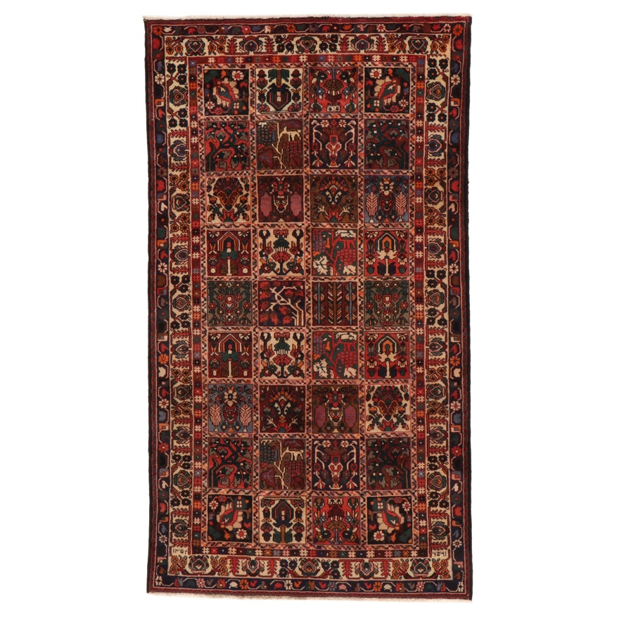 5'5 x 9'8 Hand-Knotted Persian Bakhtiari Rug, 1970s