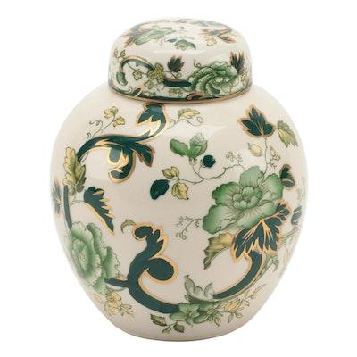 "Mason ""Chartreuse"" Ironstone Ginger Jar, Circa 1900"