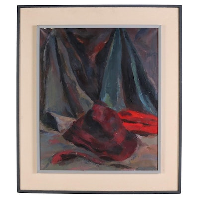 Still Life Impressionist Style Oil Painting, Mid to Late 20th Century