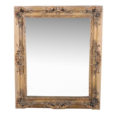 Baroque Style Giltwood Framed Wall Mirror, 20th Century