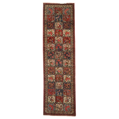 3'7 x 12'8 Hand-Knotted Persian Bakhtiari Long Rug