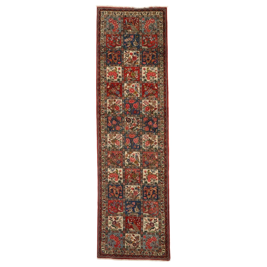 3'7 x 12'8 Hand-Knotted Persian Bakhtiari Long Rug