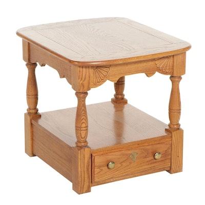 Riverside Furniture Oak Two-Tier Side Table