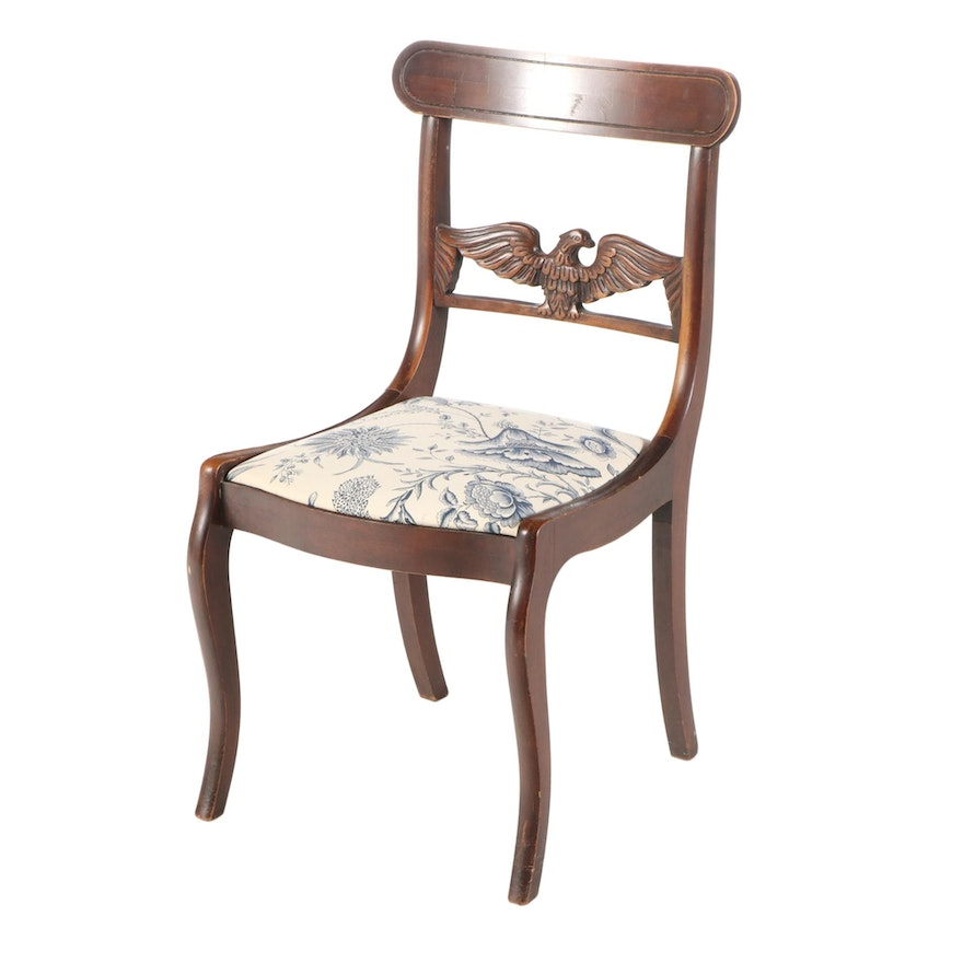 Classical Style Mahogany-Stained Side Chair, 20th Century