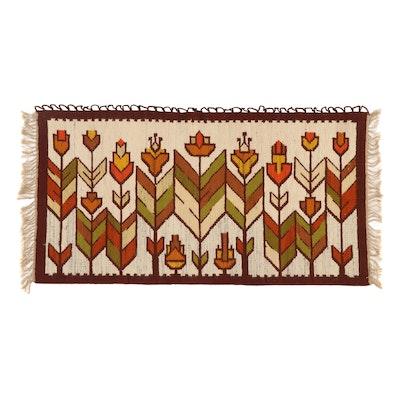 3'2 x 6'4 Handwoven Afghan Area Rug or Wall Hanging