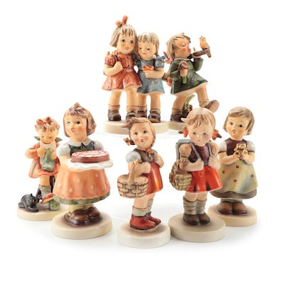 """Goebel Hummel Club Exclusive Edition """"Birthday Candle"""" with Other Figurines"""
