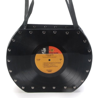 "Handmade Frank Sinatra ""My Way"" Record Album Shoulder Bag"