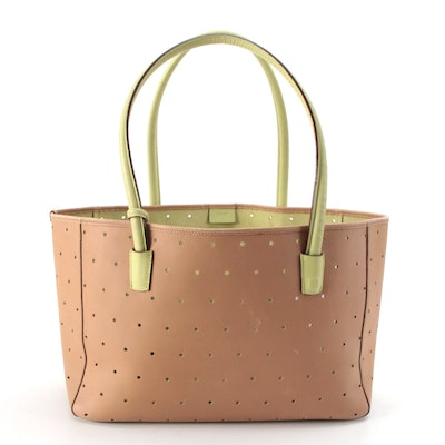Bally Neisse Two-Tone Perforated Leather Tote Bag