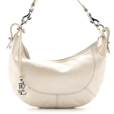 Lauren Ralph Lauren Off-White Leather Shoulder Bag