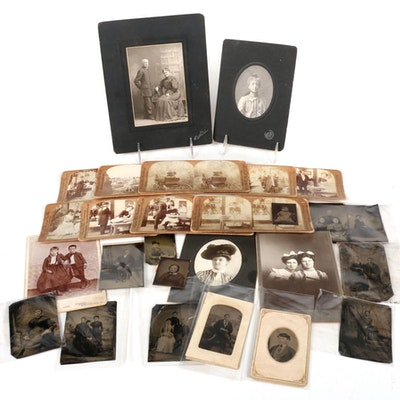 Tin Type and Cabinet Card Photography with Stereoscope Viewing Cards