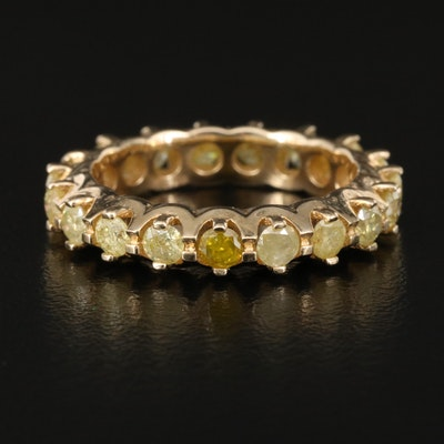 14K 1.28 CTW Yellow Diamond Eternity Band