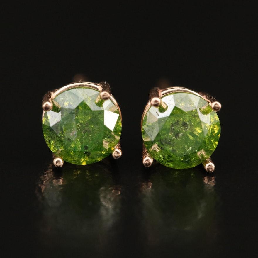 14K 1.41 CTW Diamond Stud Earrings