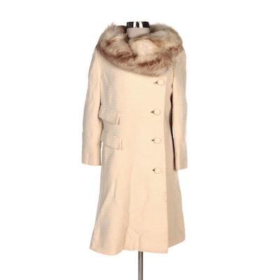 Textured Wool Coat with Fox Fur Collar from Paul Levy Deutsch Uptown