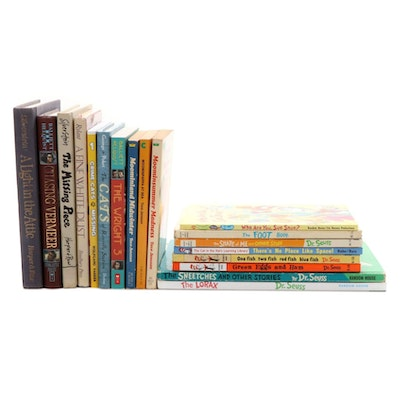 Children's Fiction Books Including Dr. Seuss and Shel Silverstein