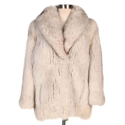 Blue Fox Fur Stroller Coat by Kingston Lee