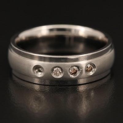 Diamond and Titanium Band