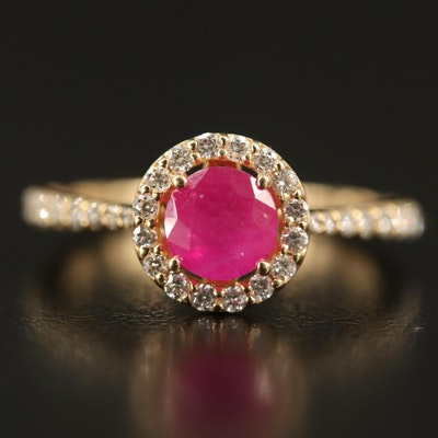 EFFY 14K Ruby and Diamond Ring
