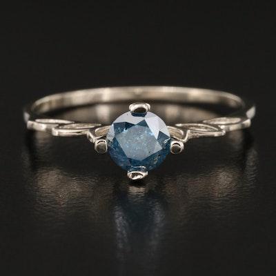 14K 0.44 CT Diamond Solitaire Ring