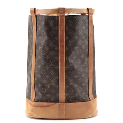 Louis Vuitton Randonnee GM Backpack Bag in Monogram Canvas