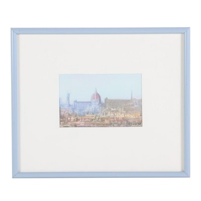 Watercolor Painting of the Cathedral of Santa Maria del Fiore, 1998