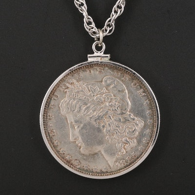 1885-O Morgan Silver Dollar Pendant Necklace