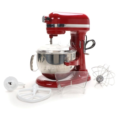 KitchenAid Empire Red Deluxe Edition Stand Mixer and Accessories