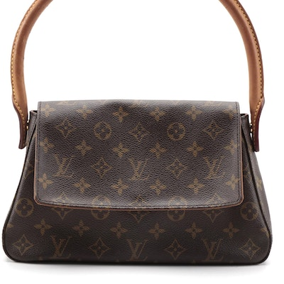 Louis Vuitton Looping PM Bag in Monogram Canvas and Vachetta Leather