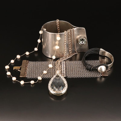 Bracelets and Necklaces Including Vintage Anthony Ferra and Avant Garde Paris