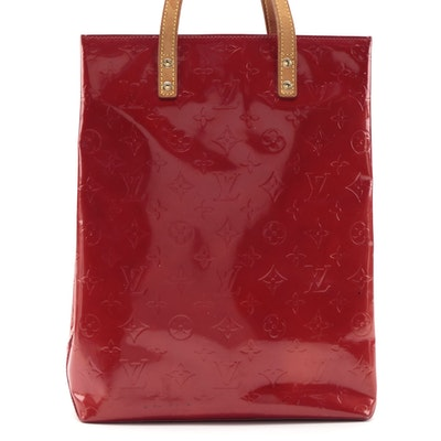 Louis Vuitton Catalina NS Tote in Monogram Red Vernis and Vachetta Leather