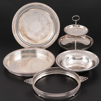 """Wm. Rogers and Sons """"Spring Flower"""" and Other Silver Plate Serving Pieces"""
