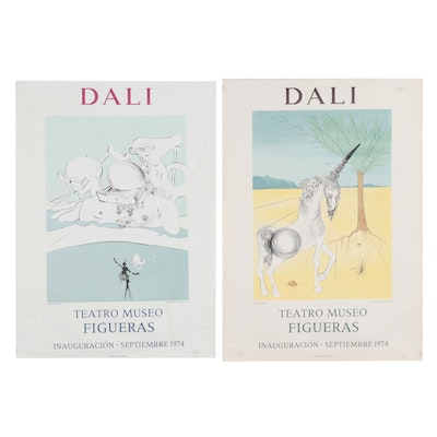 Teatro Museo Figueras Rotogravure Exhibition Posters after Salvador Dalí, 1974