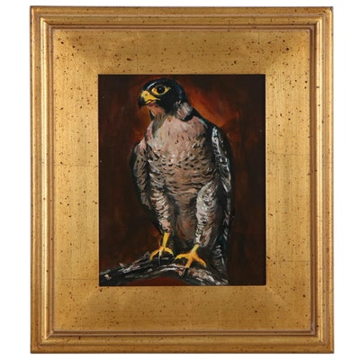 "Adam Deda Oil Painting ""Falcon,"" 2020"
