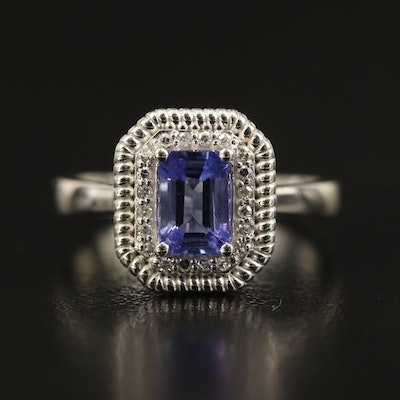 EFFY 14K Tanzanite and Diamond Halo Ring