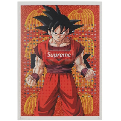 Death NYC Offset Lithograph of Goku from DragonBall Z