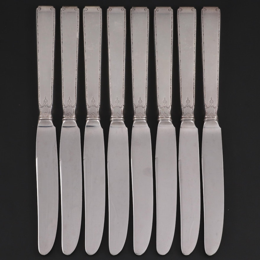 """Towle """"Old Lace"""" Sterling Silver Dinner Knives, Mid/Late 20th Century"""
