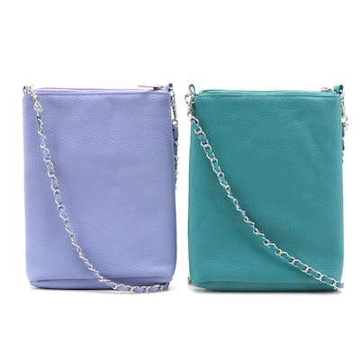 Main Street Collection Crossbody Bags in Lilac and Teal Vegan Leather