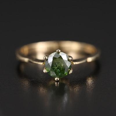 14K 1.00 CT Diamond Solitaire Ring