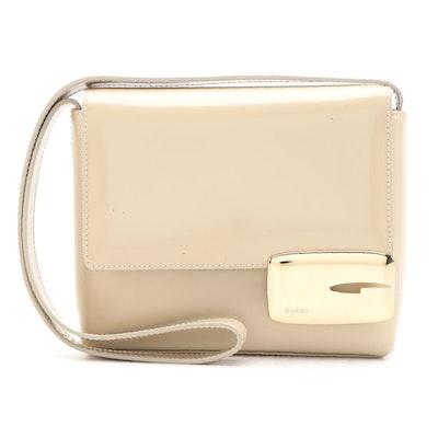 Gucci Square Shoulder Bag in Beige Glazed Leather