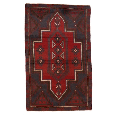 3'7 x 5'8 Hand-Knotted Afghan Baluch Area Rug