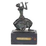 "Ruth Lee Leventhal Bronze Sculpture ""The Dancer,"" 1975"