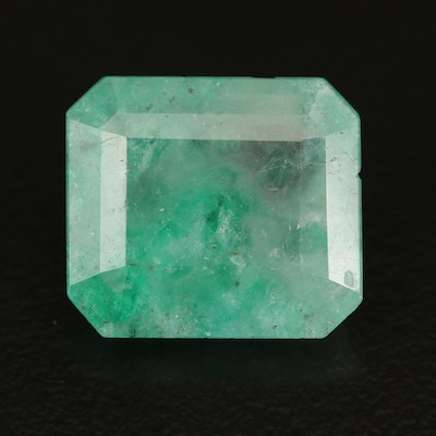 Loose 7.07 CT Cut Cornered Rectangular Faceted Beryl