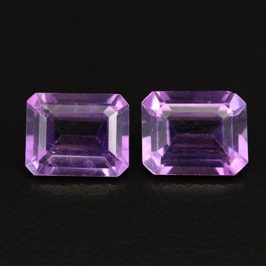 Loose 5.34 CTW Faceted Amethysts