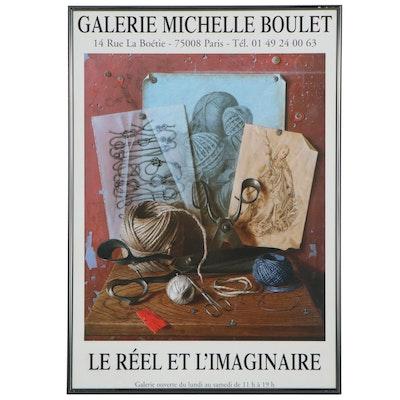 """Galerie Michelle Boulet """"Le Réel et L'Imaginaire"""" Exhibition Poster"""
