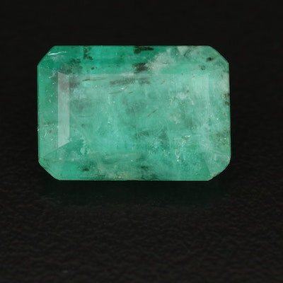 Loose 6.19 CT Cut Cornered Rectangular Faceted Beryl