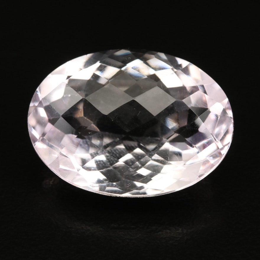 Loose 20.84 CT Checkerboard Oval Faceted Amethyst