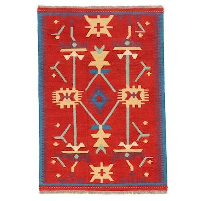 4' x 5'11 Handwoven Afghan Kilim Area Rug
