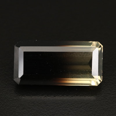 Loose 21.55 CT Faceted Bi-Color Quartz
