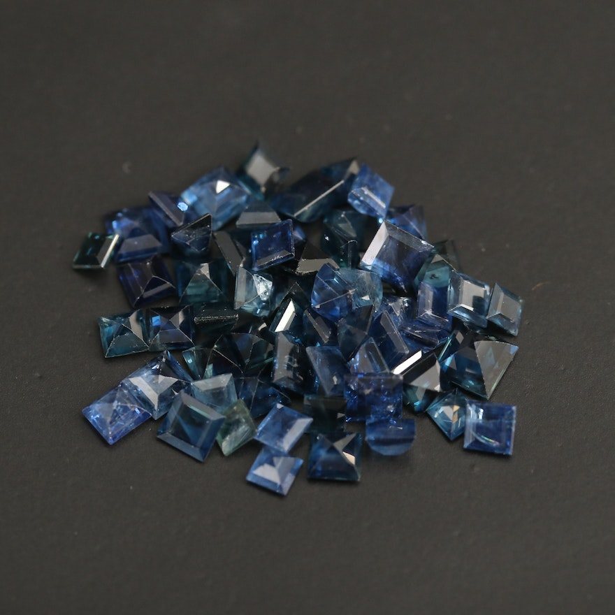 Loose 16.29 CTW Square Faceted Sapphires