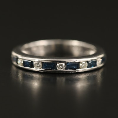 EFFY 14K Channel Set Sapphire and Diamond Band